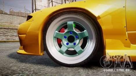 Nissan Silvia S15 Street Drift [Updated] para GTA 4 vista de volta