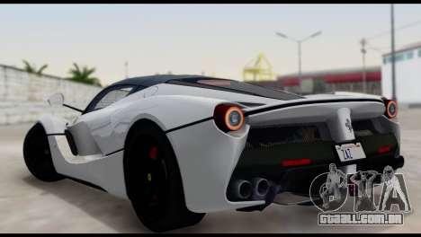 Ferrari LaFerrari 2014 (HQLM) para GTA San Andreas esquerda vista
