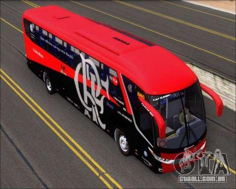 Marcopolo Paradiso 1200 G7 4X2 C.R.F Flamengo para GTA San Andreas vista traseira