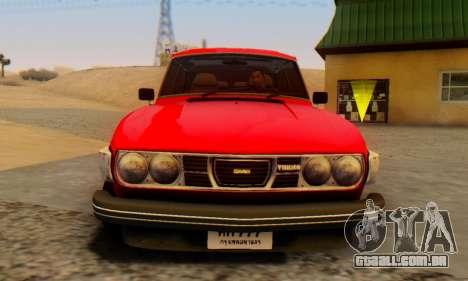 Saab 99 Turbo 1978 para GTA San Andreas traseira esquerda vista