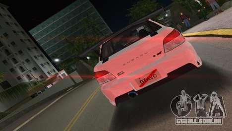 Subaru Impreza WRX STI 2006 Type 3 para GTA Vice City vista traseira esquerda
