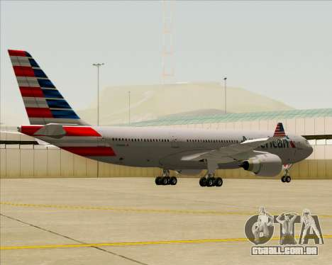 Airbus A330-200 American Airlines para GTA San Andreas vista traseira