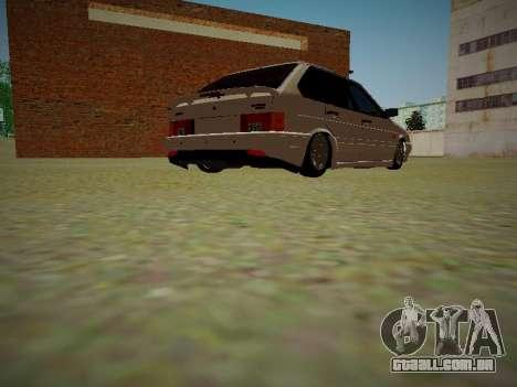 VAZ 2114 para GTA San Andreas vista traseira