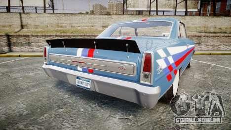 Chevrolet II Nova SS 1966 Custom [EPM] PJ2 para GTA 4 traseira esquerda vista