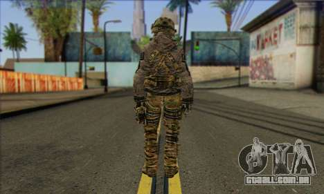 Task Force 141 (CoD: MW 2) Skin 7 para GTA San Andreas segunda tela