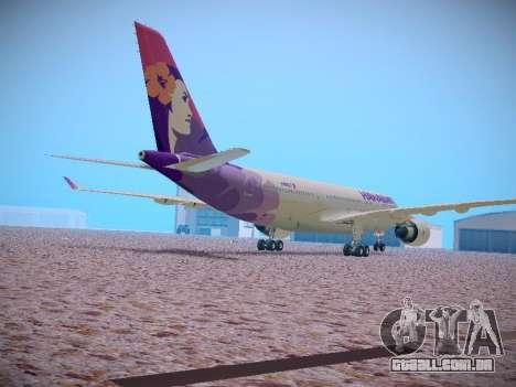 Airbus A330-200 Hawaiian Airlines para GTA San Andreas vista interior