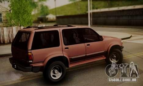 Ford Explorer 1996 para GTA San Andreas esquerda vista