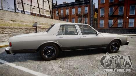 Chevrolet Impala 1985 para GTA 4 esquerda vista