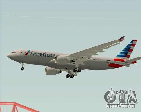 Airbus A330-200 American Airlines para GTA San Andreas vista inferior