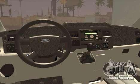 Ford Transit Limited Edition para GTA San Andreas traseira esquerda vista