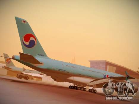 Airbus A380-800 Korean Air para GTA San Andreas vista superior