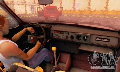 Dacia 1310 TX Stock v1 para GTA San Andreas vista traseira