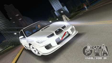 Subaru Impreza WRX STI 2006 Type 3 para GTA Vice City vista traseira