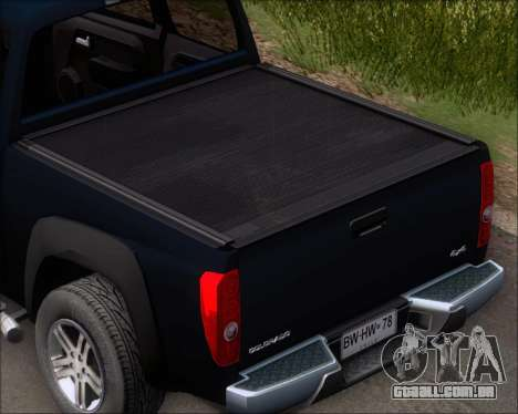 Chevrolet Colorado para GTA San Andreas vista superior