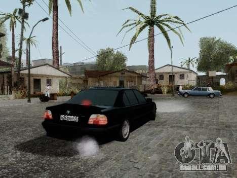 BMW 760i E38 para GTA San Andreas traseira esquerda vista