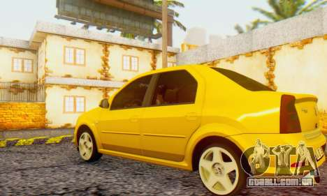 Dacia Logan Delta Garage para GTA San Andreas esquerda vista