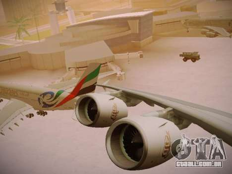 Airbus A380-800 Emirates Rugby World Cup para GTA San Andreas vista superior