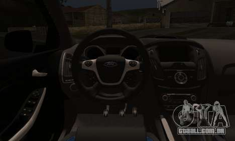 Ford Focus ST Eco Boost para GTA San Andreas vista direita