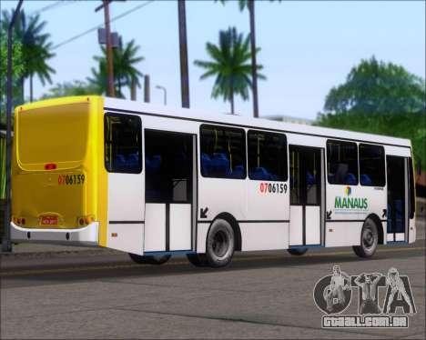Caio Induscar Apache S21 Volksbus 17-210 Manaus para GTA San Andreas traseira esquerda vista