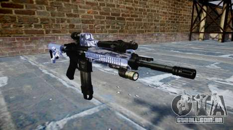 Automatic rifle Colt M4A1 blue tiger para GTA 4