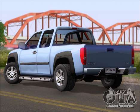 Chevrolet Colorado para GTA San Andreas esquerda vista