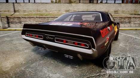 Dodge Challenger 1971 v2.2 PJ8 para GTA 4 traseira esquerda vista