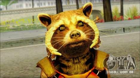 Guardians of the Galaxy Rocket Raccoon v2 para GTA San Andreas terceira tela