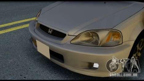 Honda Civic Si 1999 para GTA San Andreas vista interior
