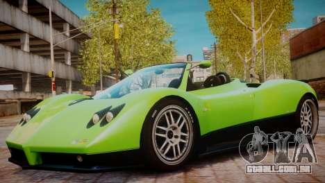 Pagani Zonda S (C12S) Roadster 2011 para GTA 4 vista de volta