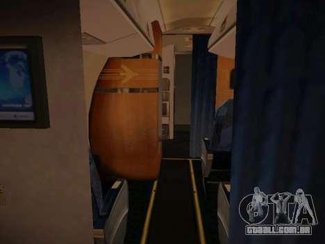 Embraer E190 Azul Brazilian Airlines para GTA San Andreas interior