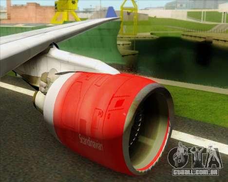 Airbus A330-300 Scandinavian Airlines System. para GTA San Andreas interior