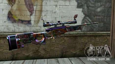 Graffiti Sniper Rifle para GTA San Andreas segunda tela
