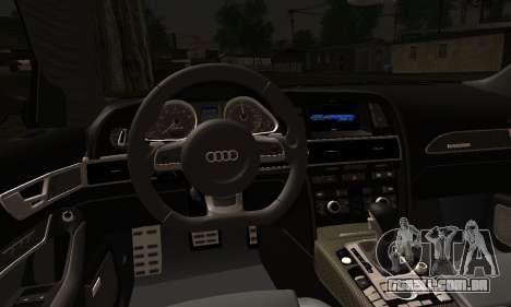 Audi RS6 para GTA San Andreas traseira esquerda vista