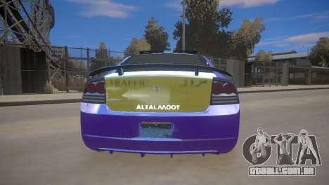 Dodge Charger Kuwait Police 2006 para GTA 4 traseira esquerda vista