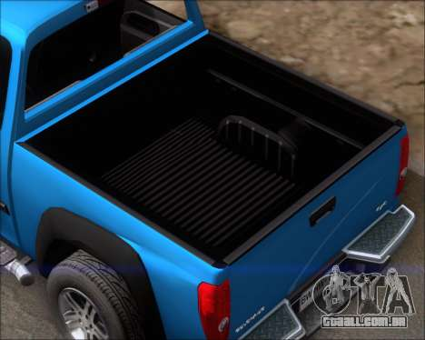 Chevrolet Colorado para vista lateral GTA San Andreas