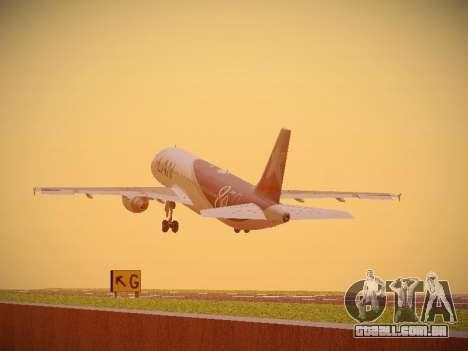 Airbus A320-214 LAN Airlines 80 Years para GTA San Andreas vista interior