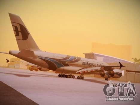 Airbus A380-800 Malaysia Airlines para GTA San Andreas interior