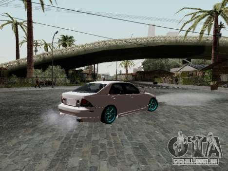 Toyota Altezza Addinol para GTA San Andreas esquerda vista