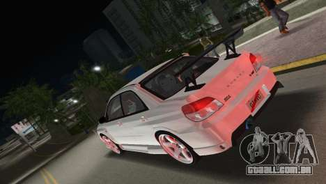 Subaru Impreza WRX STI 2006 Type 3 para GTA Vice City deixou vista