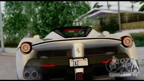 Ferrari LaFerrari 2014 (HQLM) para GTA San Andreas vista traseira