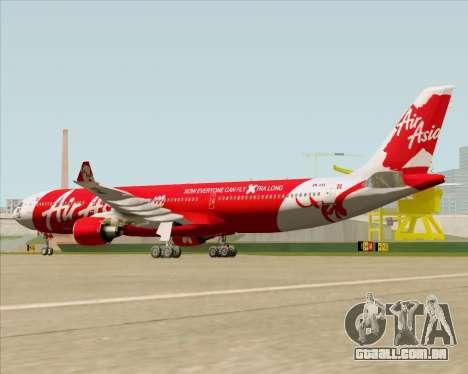Airbus A330-300 Air Asia X para GTA San Andreas vista direita