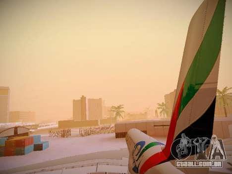 Airbus A380-800 Emirates Rugby World Cup para o motor de GTA San Andreas