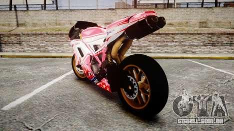 Ducati 1198 R para GTA 4 traseira esquerda vista