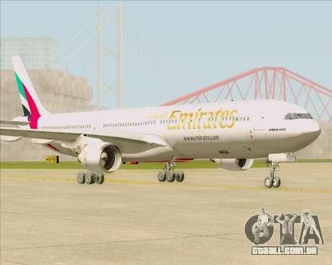 Airbus A330-300 Emirates para GTA San Andreas esquerda vista