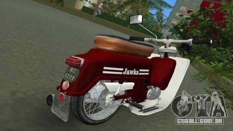 Jawa Type 20 Moped para GTA Vice City vista direita