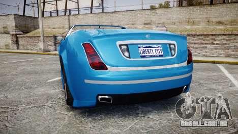 GTA V Enus Cognoscenti Cabrio para GTA 4 traseira esquerda vista