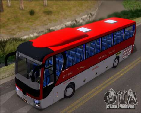 MAN Lion Coach Rural Tours 2790 para GTA San Andreas vista traseira