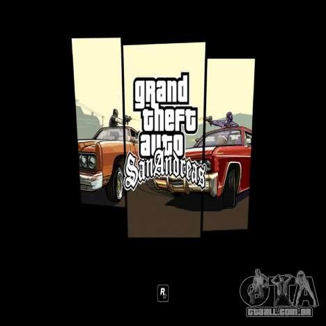 HD tela de carregamento e menu para GTA San Andreas terceira tela