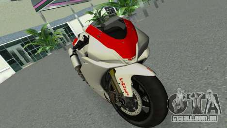 Aprilia RSV4 2009 Gray Edition para GTA Vice City vista direita
