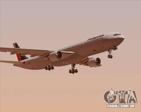 Airbus A330-300 Philippine Airlines para GTA San Andreas vista interior